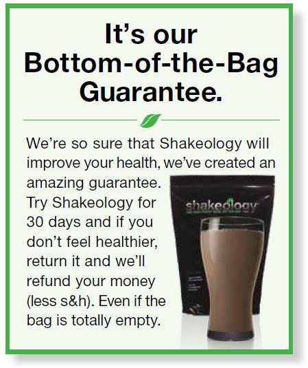 Bottom of the Bag Guarantee